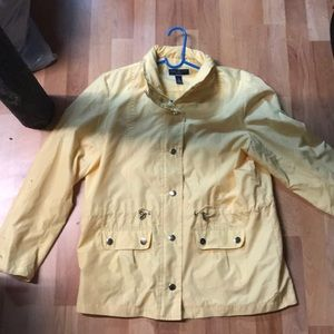 Yellow Polyester Jacket